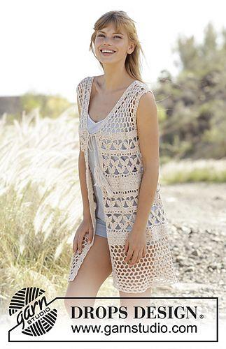 Ravelry: 167-19 Summer Bliss Vest pattern by DROPS design | Crochet ...