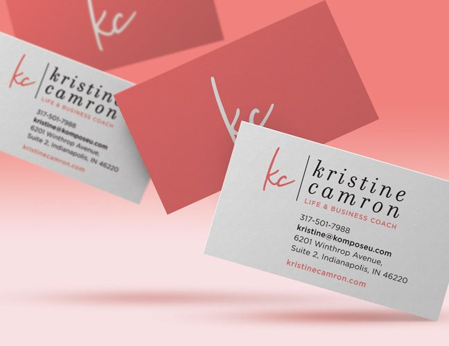 Vale Design Kristine Camron Website Branding Word Mark Business Cards Avec Images Carte De Visite Carte