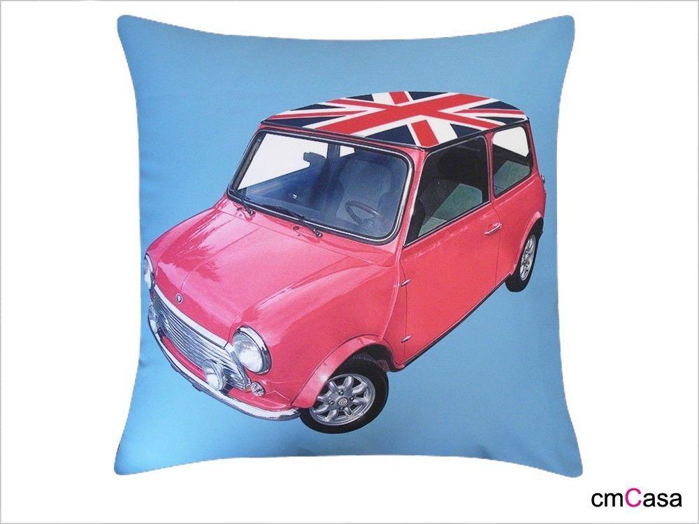 =cmCasa= 2573  Vintage British Mini Car Throw Pillow Case/Cushion Cover