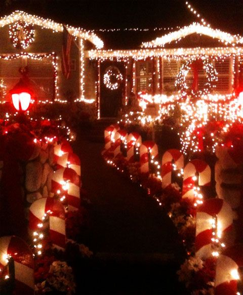 Candy Cane Lane Christmas Decorations Candy Cane Lane Torrance  Candy Cane Lane Christmas Sleepy Hollow