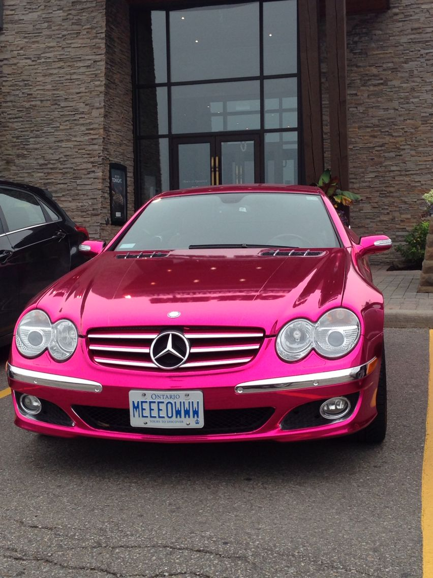Pink Mercedes Love The Color With Images Old Mercedes Pink Car Dream Cars