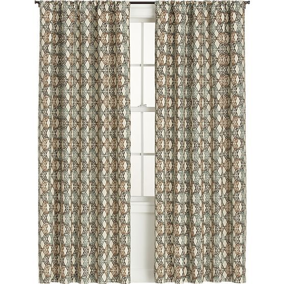 tegan 50x84 curtain panel in curtains crate and barrel willow springs curtains panel. Black Bedroom Furniture Sets. Home Design Ideas