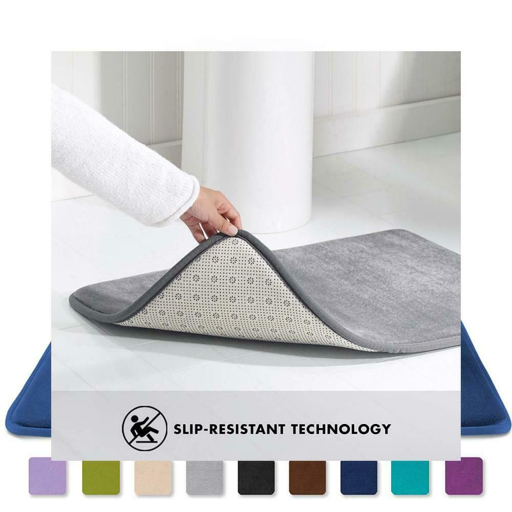 Ebay Sponsored Genteele Memory Foam Bath Mat Non Slip Absorbent