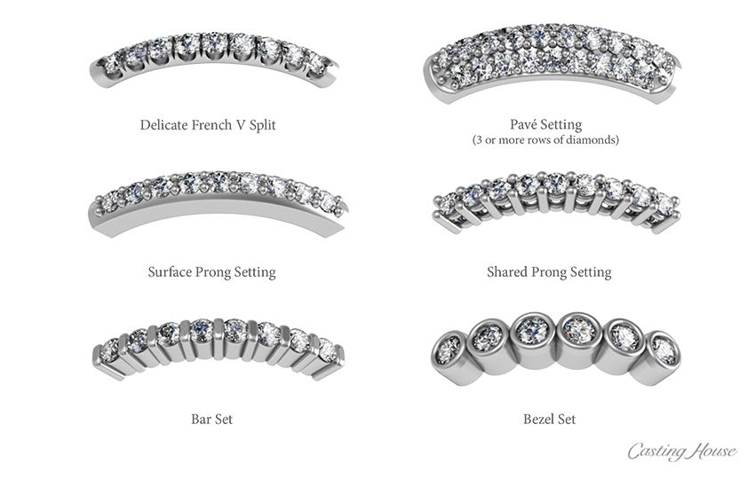 Diamond Melee Setting Styles 1 Diamond Rings Jewelry