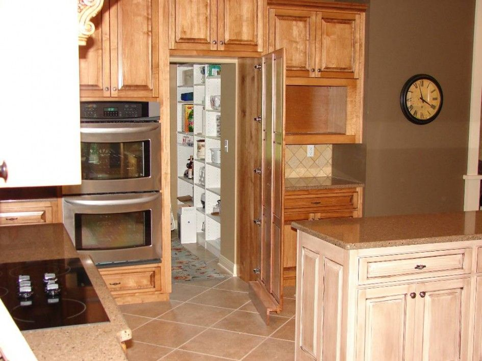Marvelous Large Walk in Kitchen Pantry with Heavy Duty Concealed