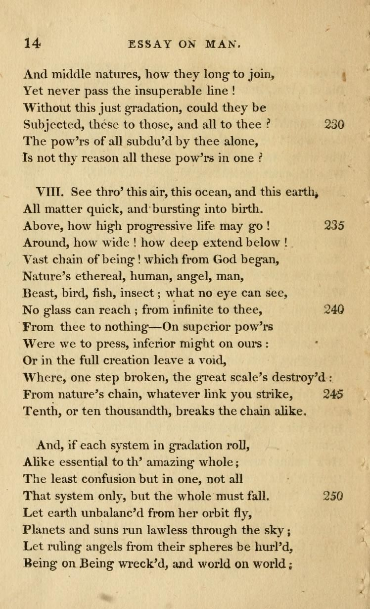 Vlll an essay on man by alexander pope the great sonnets