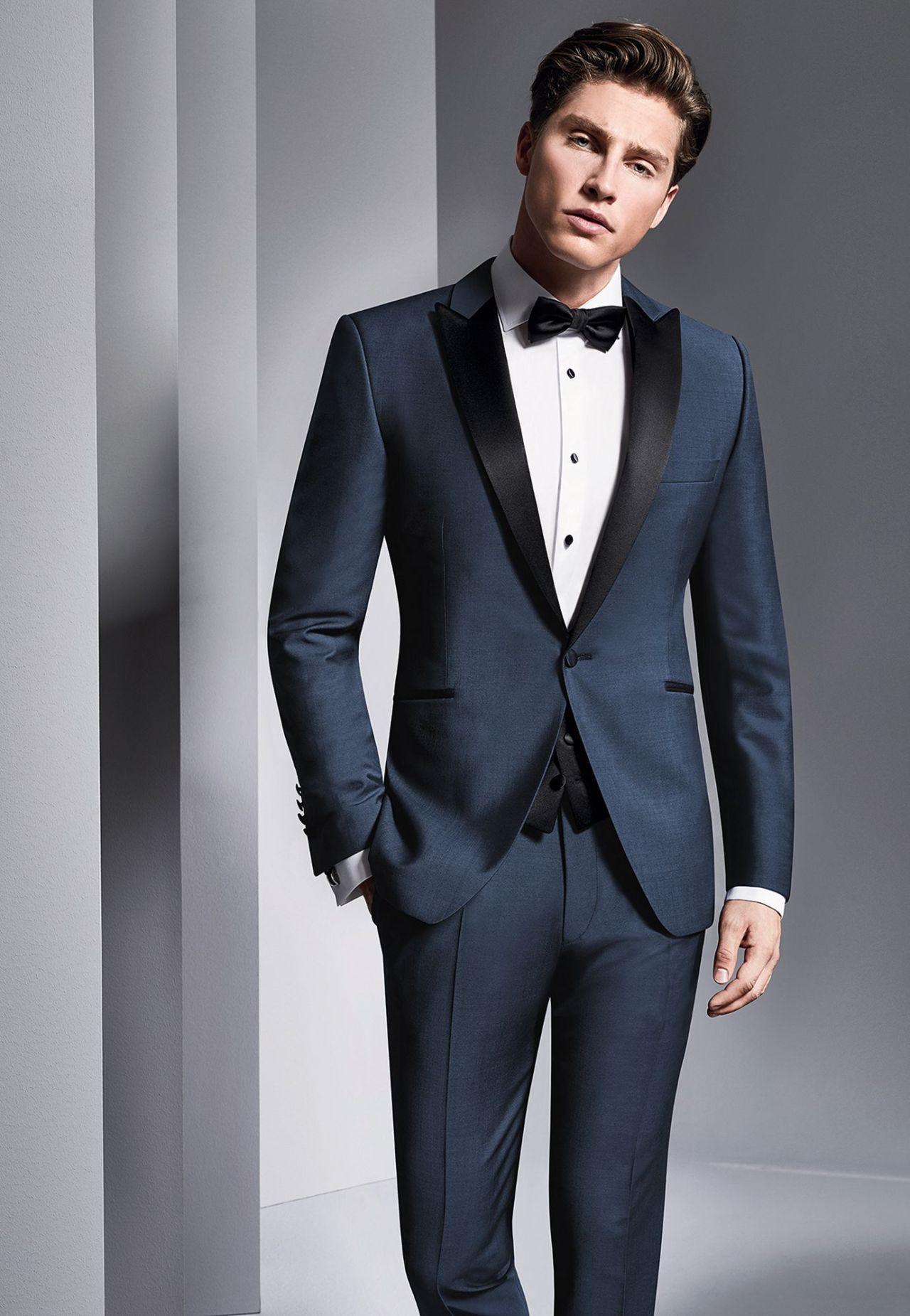 25+ Best Charming Blue Tuxedo Wedding Dress Ideas