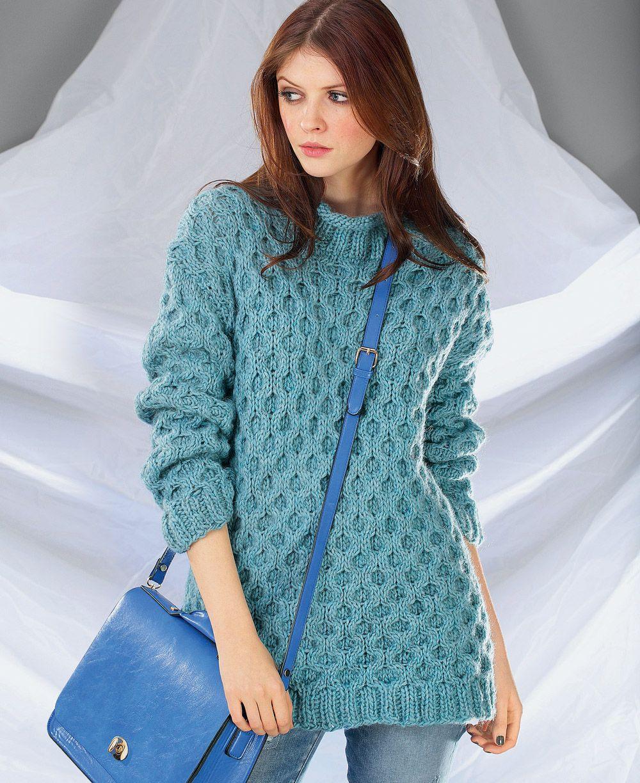 схема вязания спицами свитер женский