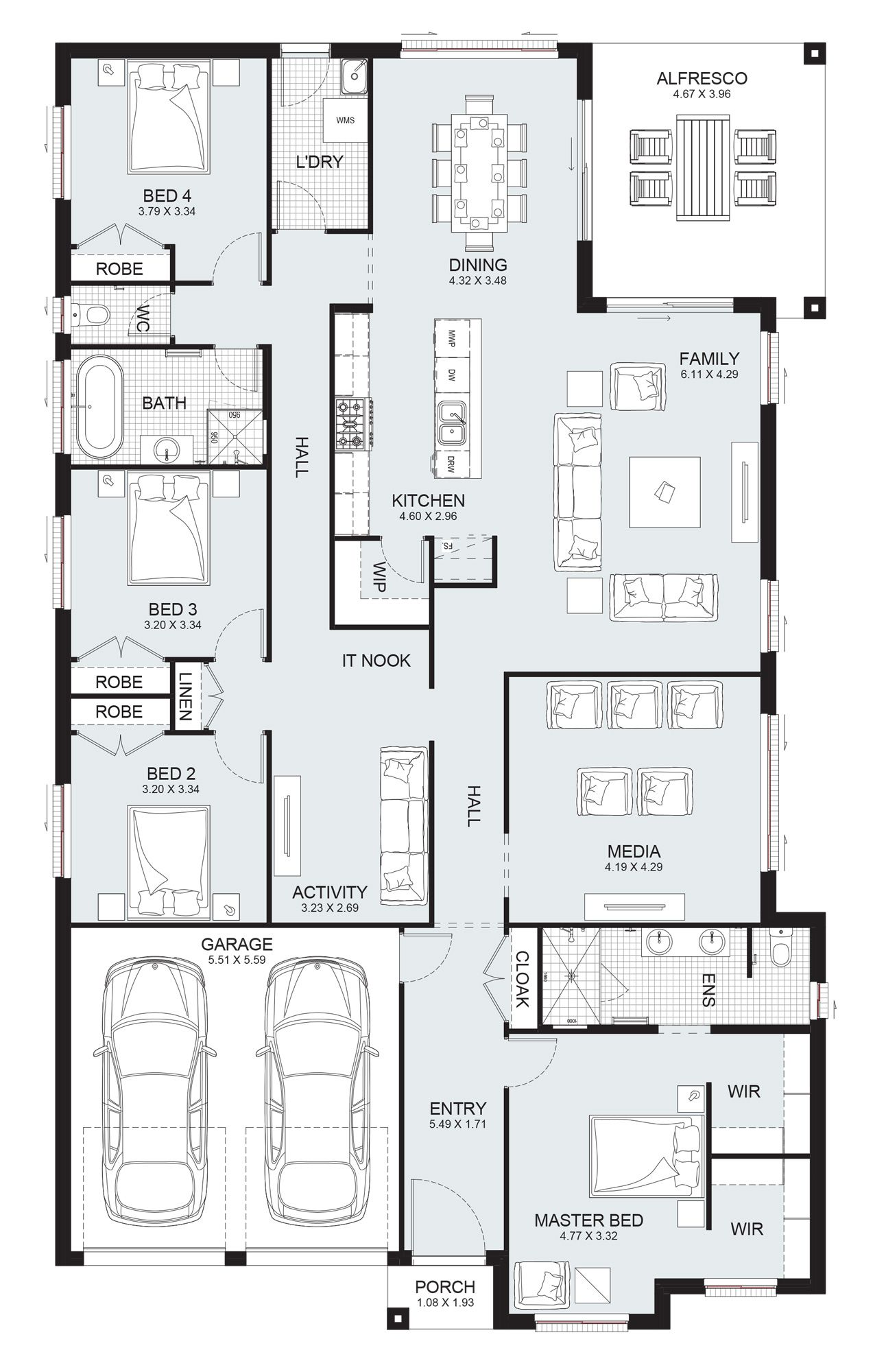 Sierra 29 Single Level Floorplan By Kurmond Homes New Home Builders Sydney Nsw Single Level House Plans