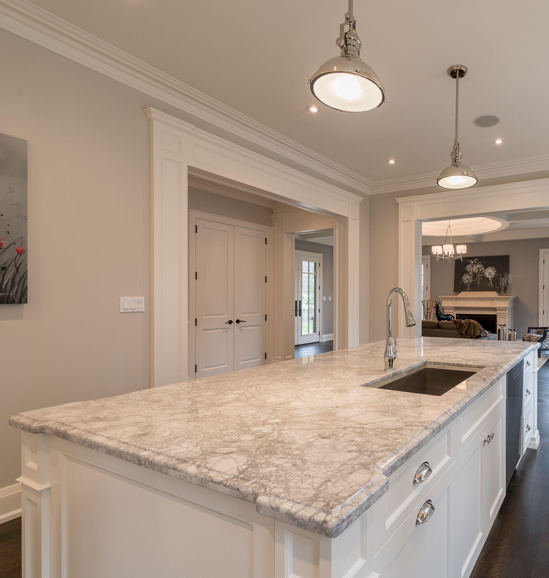 Prasada Kitchens And Fine Cabinetry: White Kitchen Ideas. Super White Granite, CC40 Cabinetry