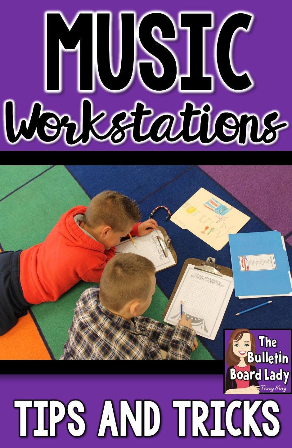 Tips and Tricks for implementing workstations in your music class.  What works…
