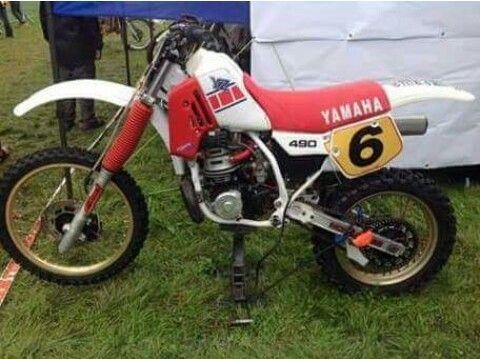 Yamaha Yz 490 Homemade Water Cooled Cylinder Vintage Motocross Vintage Bikes Yamaha