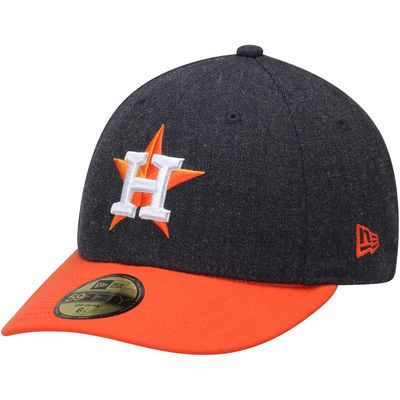 d37683f79df Houston Astros New Era Change Up Low Profile 59FIFTY Fitted Hat -  Navy Orange