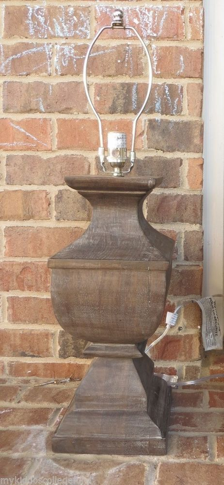 architectural salvage chandelier pottery barn. new pottery barn architectural salvage square urn wood table lamp *2 available chandelier