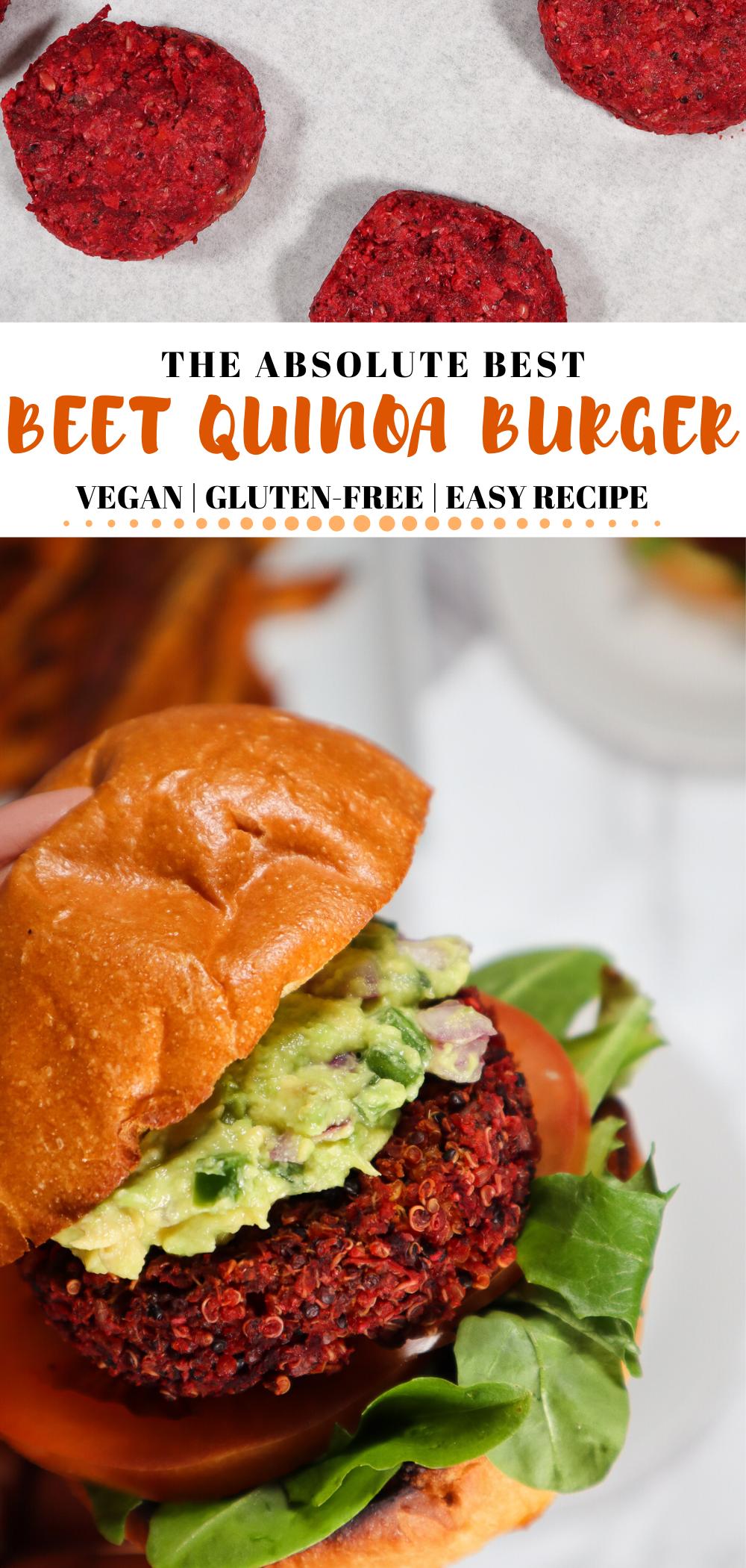 Best Beet Quinoa Veggie Burger Vegan And Gluten Free Good Food Baddie Recipe Vegetarian Recipes Healthy Quinoa Veggie Burger Veggie Burger