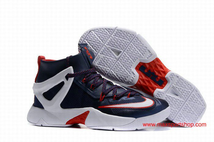 huge discount faf89 adb6b 2016 The New Nike LeBron Ambassador 8 US team Dark-blue White Red  80.00