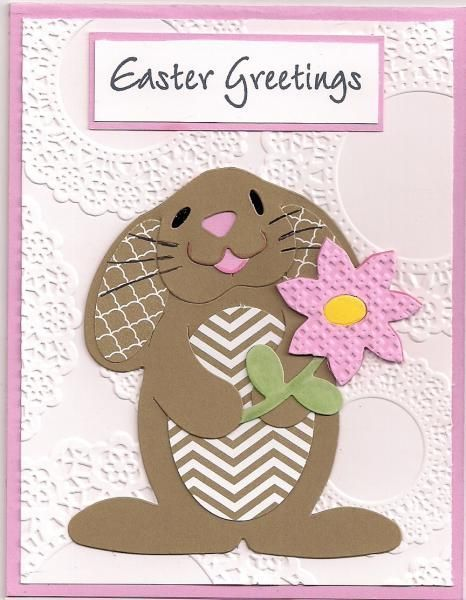 Handmade Easter Card Greetings By Bmbfield Adorable Bunny