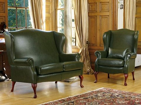 Dark Green Leather Sofa | Hall