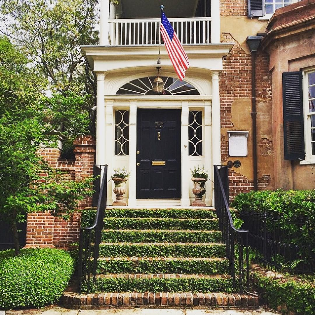 This Stunning Front Door Stopped Us In Our Tracks. Classic Southern Style Shines  Bright Thanks To The Side Window Design. Is It Just Us Or Does Charleston  ...