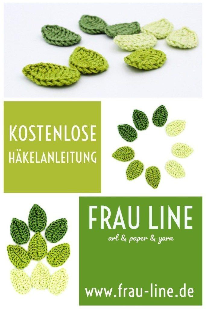 Häkelanleitung der Woche Blätter  Frau Line Häkelanleitung der Woche Blätter  Frau Line