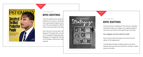 Blog Like a Mag Editing Section Slides