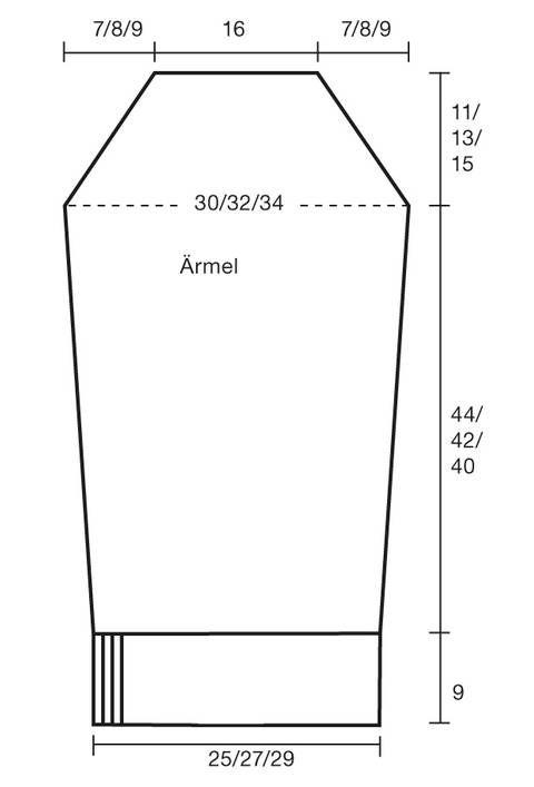 Strickmuster: Strickmantel mit Kapuze: Anleitung zum Stricken