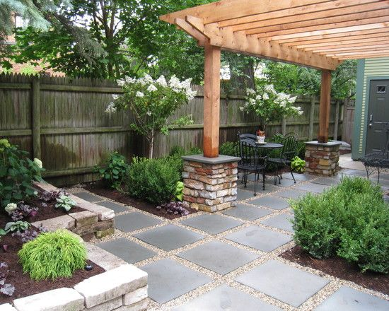 Chicago landscape gravel walkways design pictures for Hard landscaping ideas