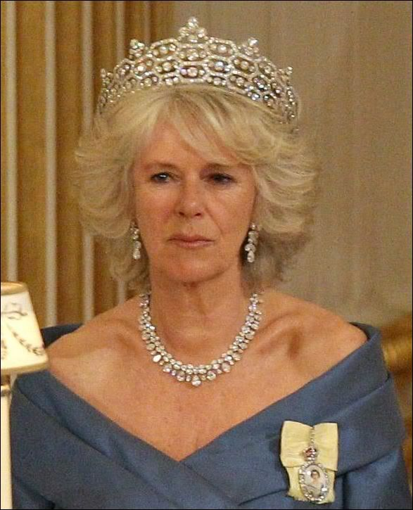 HRH The Duchess Of Cornwall Wearing The Greville Tiara