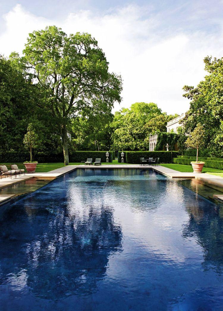 Am nagement jardin paysager autour d une piscine 40 id es fascinantes pools modern pools - Amenagement jardin piscine ...