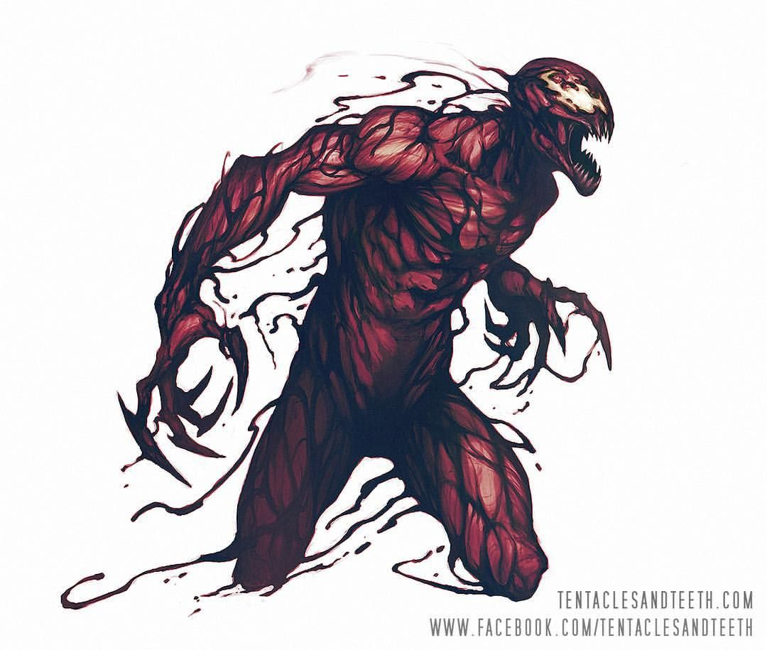 Carnage By Richard Luong Carnage Venom Spiderman Marvel Art