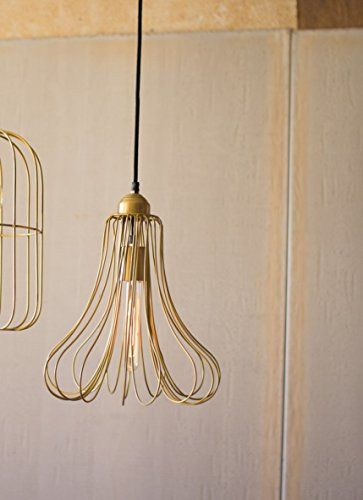 KALALOU NSAR1000 BRASS WIRE BELL PENDANT LIGHT * Click for Special ...