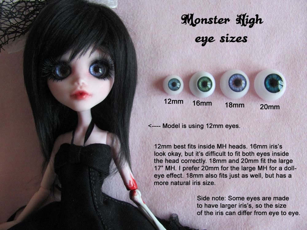 crafts doll making doll repairs Doll Eye Sizers hobbies
