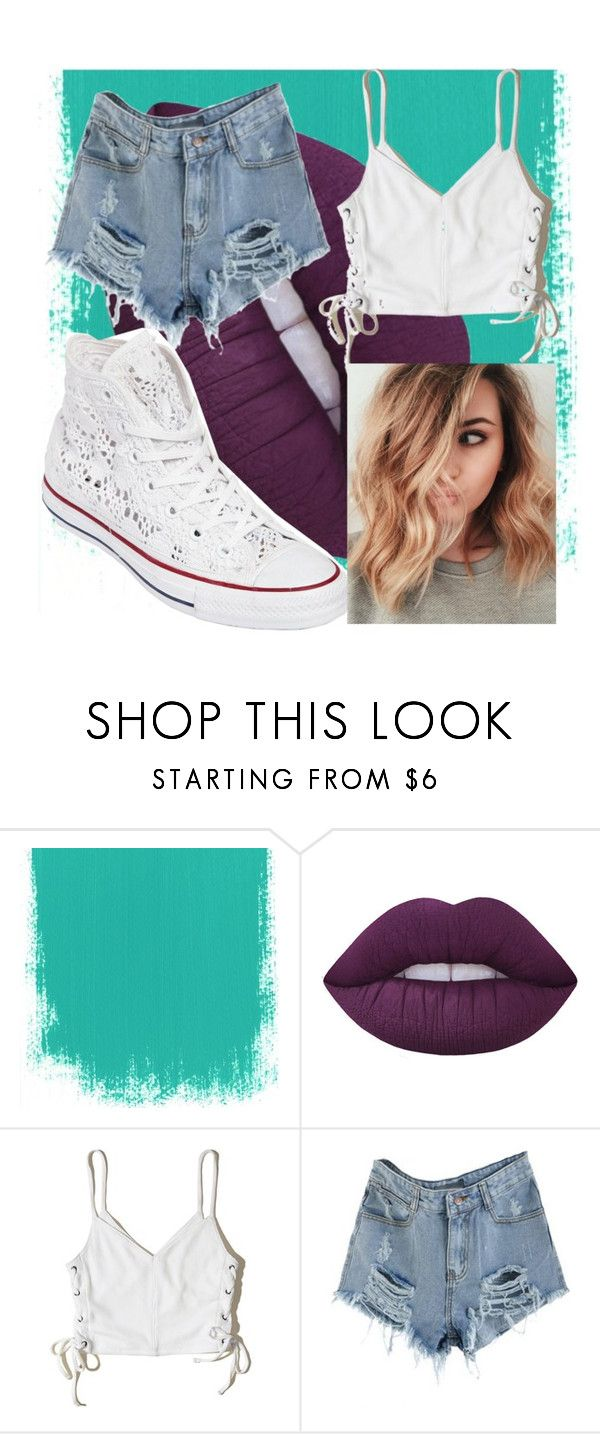 """""""Crop it"""" by epiphany4 ❤ liked on Polyvore featuring Lime Crime, Hollister Co. and Converse"""
