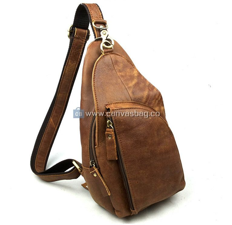 Sling Backpacks for Men Leather Sling Bag | Men's leather ...