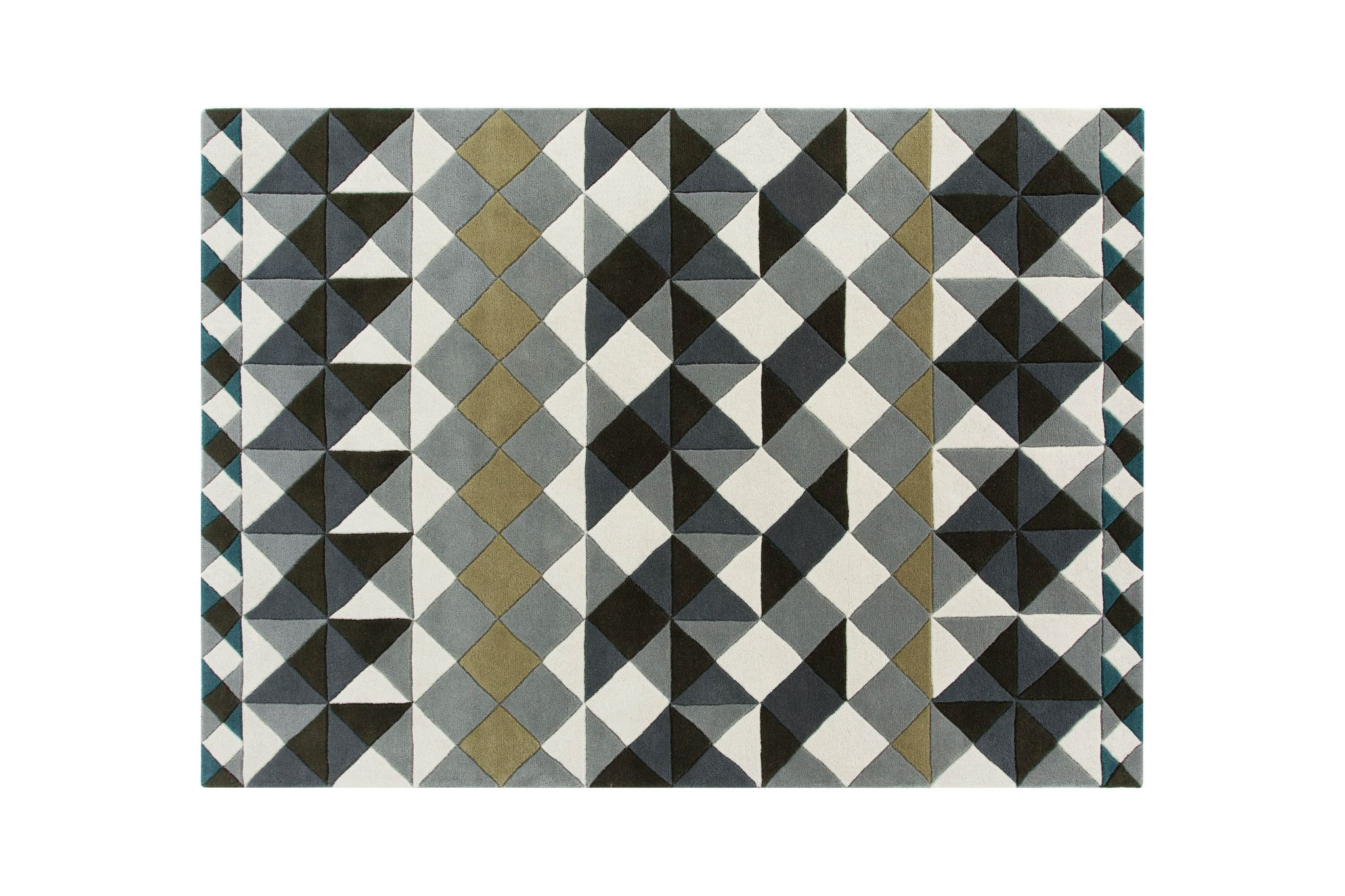 Mosaiek Hand Tufted Grey Wool Rug