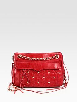 Rebecca Minkoff - Swing Circle Quilted Leather Shoulder Bag from Saks at 150 WORTH.