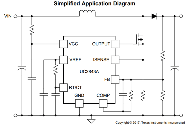 UC3843 PWM Controller Circuit | Circuits in 2019 | Circuit