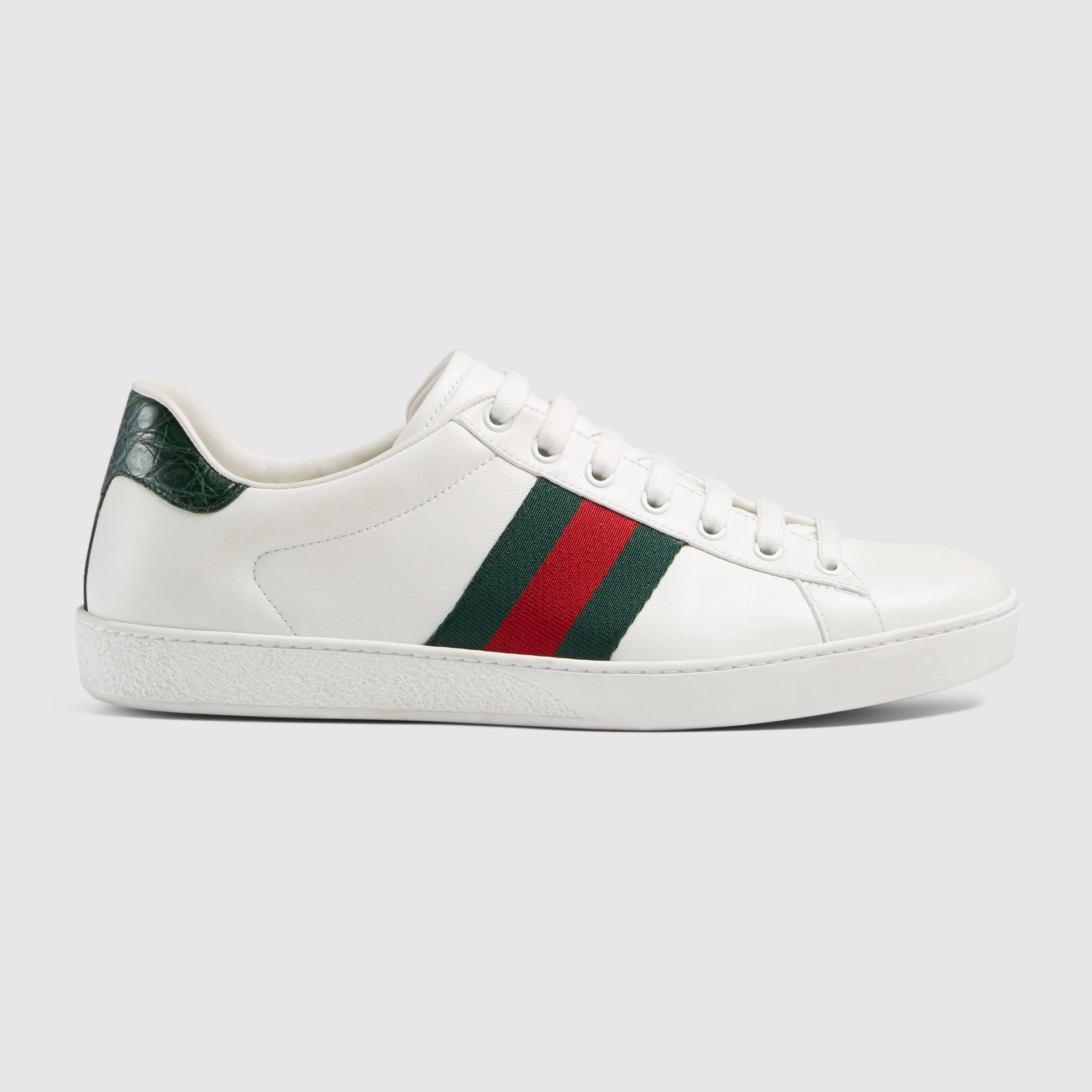 on sale ecf06 49727 GUCCI - Sneaker bassa Ace in pelle, taglia 39 40    450€