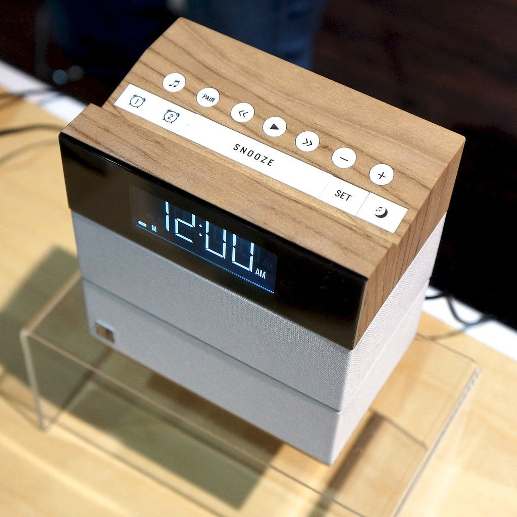 A New Stylish Speaker For Sleepyheads Alarm Clock Alarm Clock