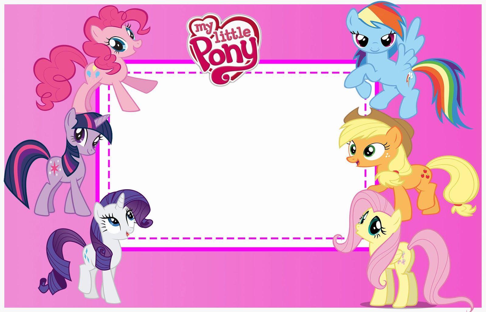 Kit de Aniversrio My Little Pony Convites Digitais Simples