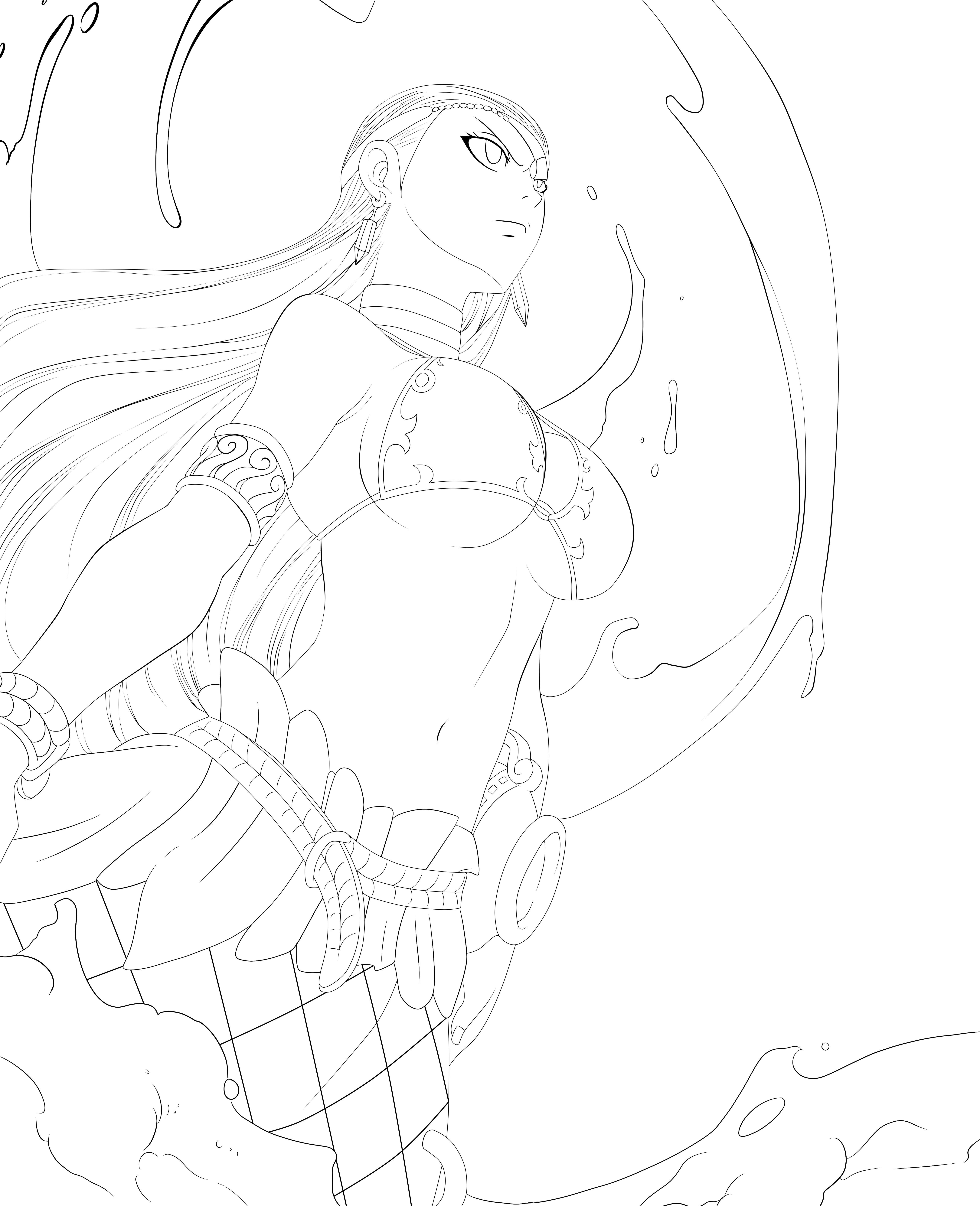 Ft Aquarius Chapter 310 Lines By Minouze Anime Lineart Fairy Tail Art Anime Art Girl [ 6400 x 5200 Pixel ]