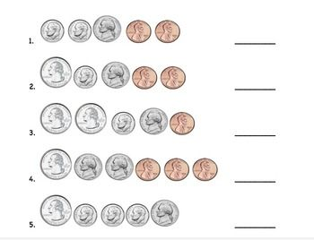 Counting Coin Combinations | Kids/School Ideas | Counting coins