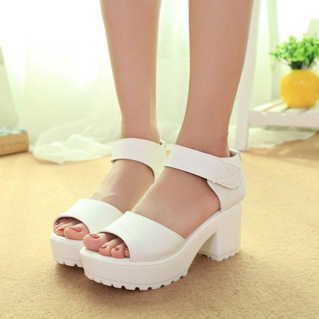 e9ae5863202 new summer women font fashion platform shoes. new summer women font fashion platform  shoes Platform High Heels, Block Heel Platform Sandals,