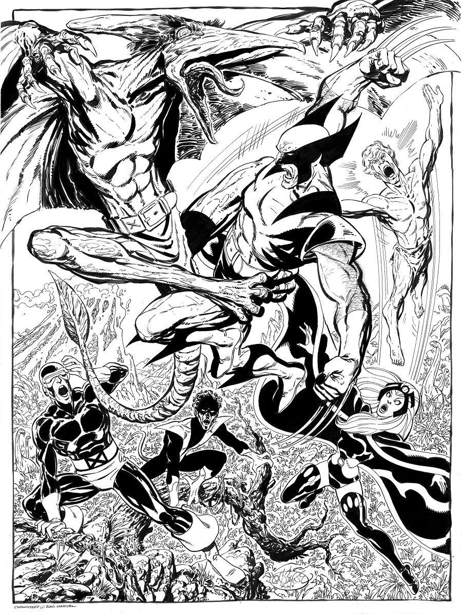 X Men Vs Sauron By John Byrne Comic Books Art Wolverine Art Comic Book Artists