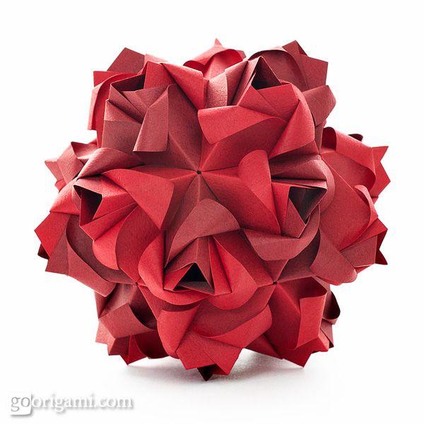 Origami Kusudama Star (intermediate - modular) - YouTube   600x600