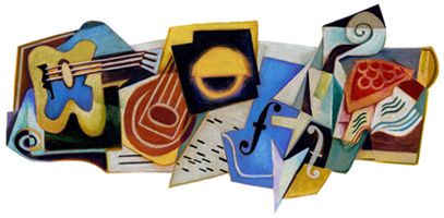 Today is the 125th birthday of the late Spanish painter, Juan Gris.  To celebrate his contributions to the world, Google has a special logo worldwide symbolizing his work in the form of a Google Doodle.    Here is a picture of the Google Logo in the form of Cubism art...