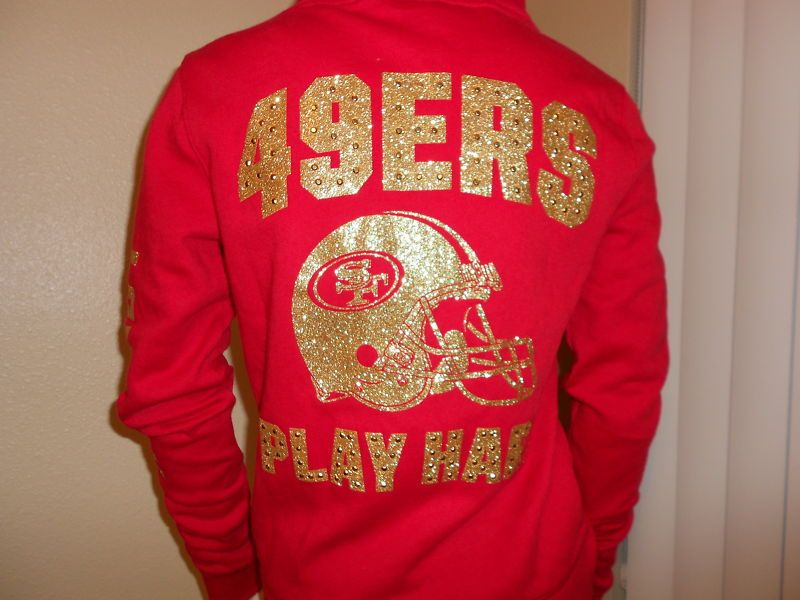 3063fc57 NEW BEAUTIFUL VICTORIA'S PINK SECRET FRANCISCO 49ERS PERFECT BLING ...