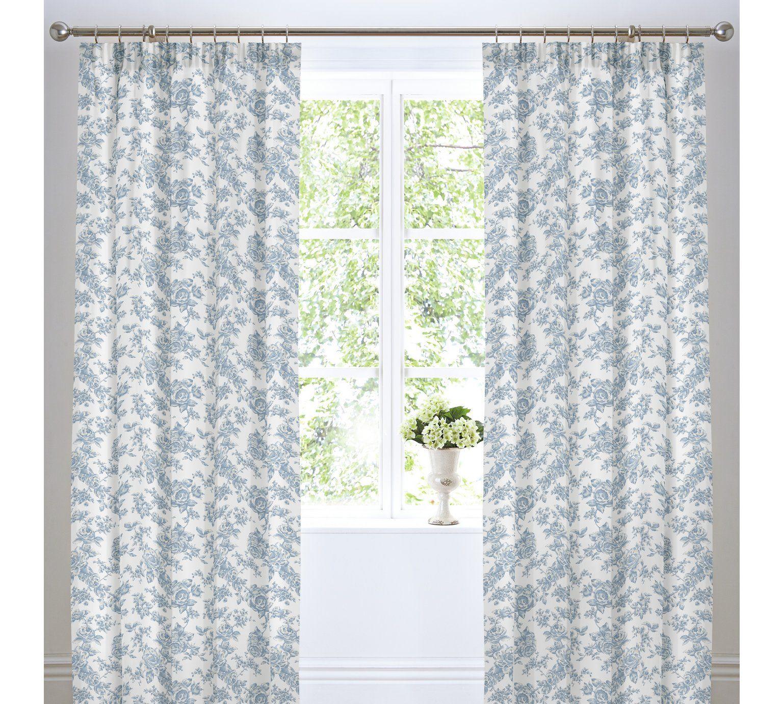 Vintage Fl Curtains Argos Home Sweet Blue