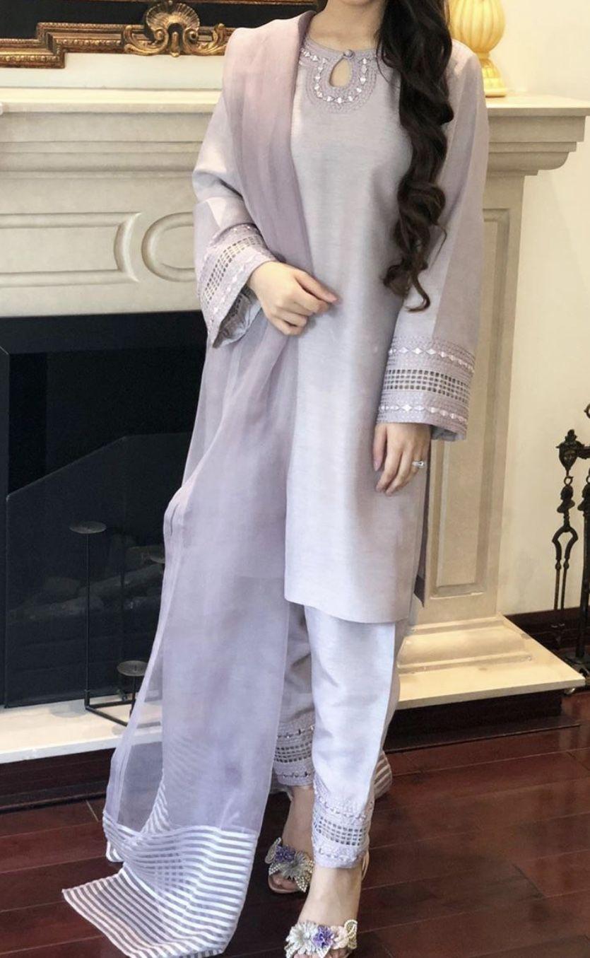 Pin By Anila Baldev On Semi Plain Plain Simple Dresses Suits Inspo Simple Pakistani Dresses Pakistani Dresses Casual Pakistani Fashion Party Wear