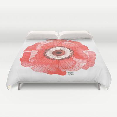 Red Poppy Duvet Cover By Oana Befort Society6 Duvet Covers Duvet Red Poppies